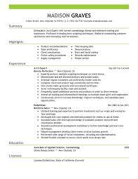esthetician resume exle new esthetician resume pertamini co