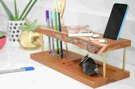 Desk Organizer Diy Modern Wooden Diy Desk Organizer Curbly Design Community Dma