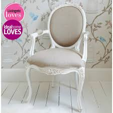 french bedroom chair provencal linen lady s chair carved by hand from mahogany then
