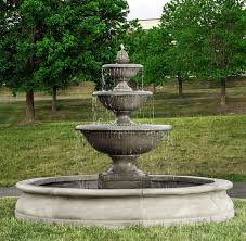 l with water fountain base monteros tiered outdoor water fountain in basin