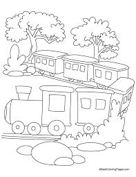 Trian Coloring Pages Rail Color Page
