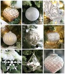 country blush mercury glass ornaments flower