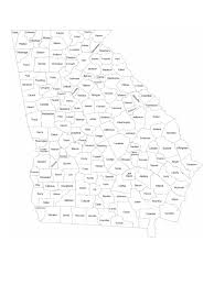 Georgia Counties Map Georgia Map Template 8 Free Templates In Pdf Word Excel Download