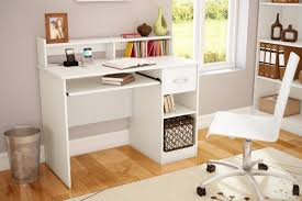 White Desk With Keyboard Tray by South Shore Axess 1 Drawer Computer Desk With Hutch U0026 Reviews