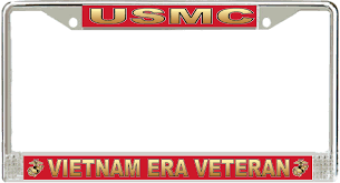 michigan state alumni license plate frame marine corps era veteran license plate frame