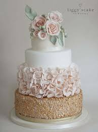 wedding cakes gold sequin and petal cake wedding cakes
