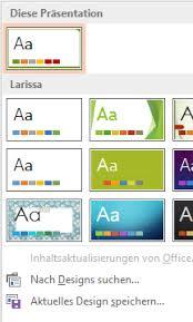 powerpoint design zuweisen eine selbst gestaltete präsentationsvorlage auf vorhandene