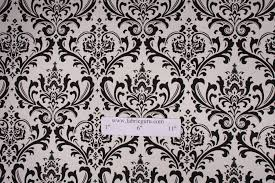 Black And White Drapery Fabric Prints Traditions Printed Cotton Drapery Fabric In Black White
