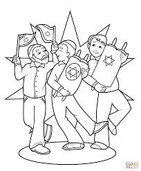 simchat torah celebration coloring page free printable coloring