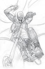 ghost rider 70 cover pencilled by bob budiansky original art