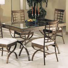 Acme Dining Room Furniture Acme Furniture Egyptian Rectangular Dining Table With Glass Table