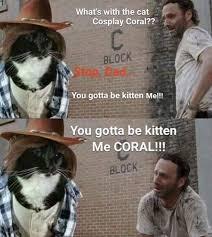 Meme Carl - cat carl human carl the walking dead the walking dead meme