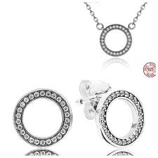 round necklace images Dazzling forever round necklace earrings gift set supersterling jpg