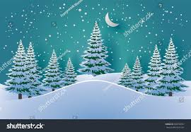 pines snow winter vector illustration snow stock vector 690738727