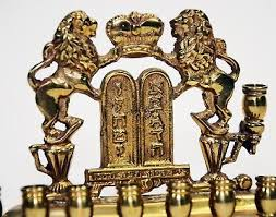 antique menorah brass vintage antique hanukkah menorah lions of judah