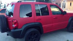 black jeep liberty matte red with black trim jeep liberty by dipyourwhip ca youtube