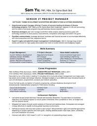 Project Manager Job Description For Resume by 2 Answers How Does An Australian It Project Manager U0027s Resume Look