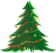large transparent green tree with ornaments png clipart