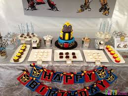 optimus prime birthday party transformers birthday party ideas photo 15 of 19 catch my party