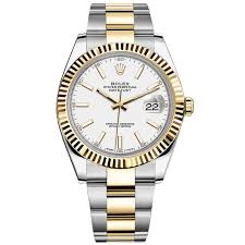 rolex white gold oyster bracelet images Rolex datejust ii steel and yellow gold white stick dial 41mm jpg