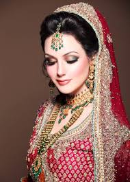 stani bridal makeup on red dress