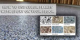 how to use color chips and color flakes for epoxy coatings