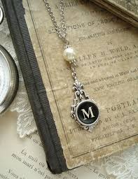 pearl monogram necklace if you need a gift suggestion hee caveman no more