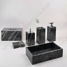 marble bathroom set inspirational wooden bathroom accessories set for black wooden