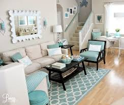 coastal themed living room easy breezy living in an aqua blue cottage theme living room