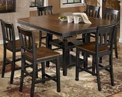 counter height dining room table with bench dining room rustic