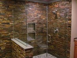 Slate Tile Bathroom Shower Slate Wall In Shower Slate Bathroom Staked Slate Wall Shower