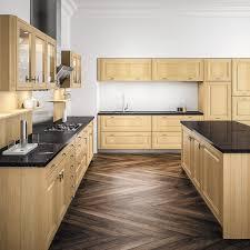 cuisine en bois clair facade cuisine bois chane clair kadral cooke lewis en