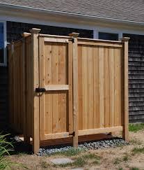 outdoor shower custom designs cedar kit deep ny nj