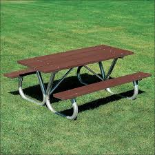 exteriors wood picnic table with umbrella hole resin picnic