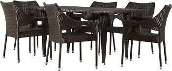 7 Piece Wicker Patio Dining Set - mercury row nevius 7 piece dining set u0026 reviews wayfair