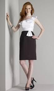 size 10 black white liz fields satin bridesmaid dress 423