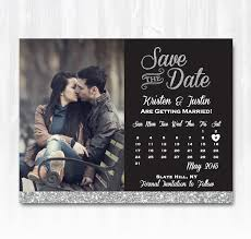 save the date magnets cheap silver glitter save the date magnet or card diy printable