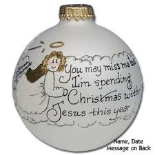 buy memorial glass ornament personalized within
