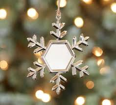 personalized snowflake ornament pottery barn