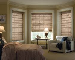 Window Treatments For Bay Windows In Dining Rooms Interior Comely Dining Room Decoration Using Cream Bamboo Bay