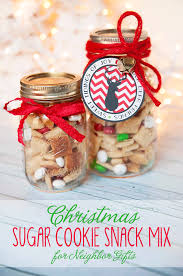 christmas cookie gifts sugar cookie snack mix christmas gift or gift