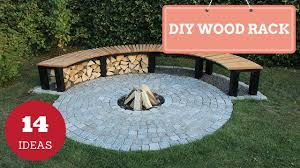 Outdoor Firewood Storage Rack Plans by 14 Clever And Easy Diy Backyard Firewood Racks Youtube