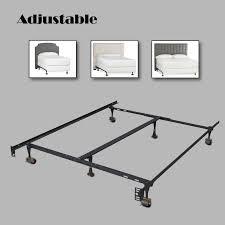 Platform Metal Bed Frame Heavy Duty Metal Bed Frame Adjustable Twin Full Queen W Center