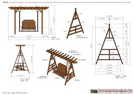arbor swing plans free how to build a freestanding arbor swing tos diy outdoor 14207856