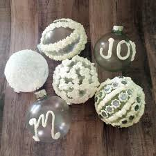 frosted ornaments with collage clay diy