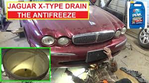 bmw e46 coolant type jaguar x type how to drain the coolant antifreeze jaguar xtype