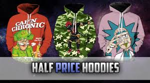 half price hoodies rick and morty hoodies anime weed hoodies