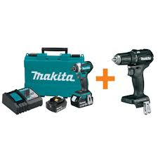 makita 18 volt lithium ion brushless 1 4 in impact driver kit
