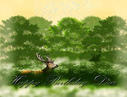 dear deer birthday free just for him ecards greeting cards 123