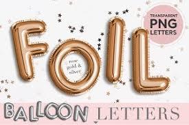 foil balloon letters objects creative market